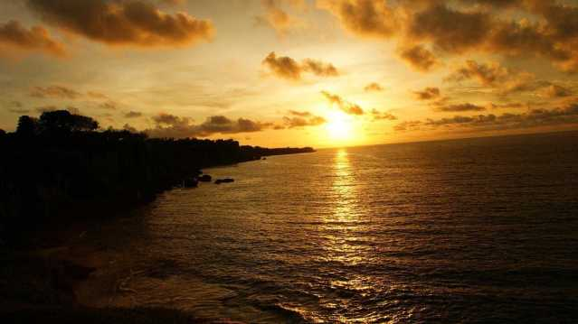 tegal wangi, sunset di bali