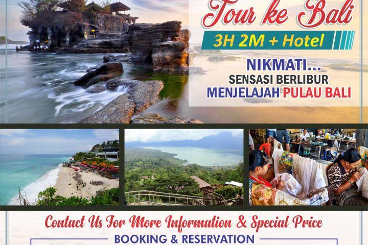 Paket Tour Bali 3 Hari 2 Malam dengan Hotel BTH 03 Opsi A