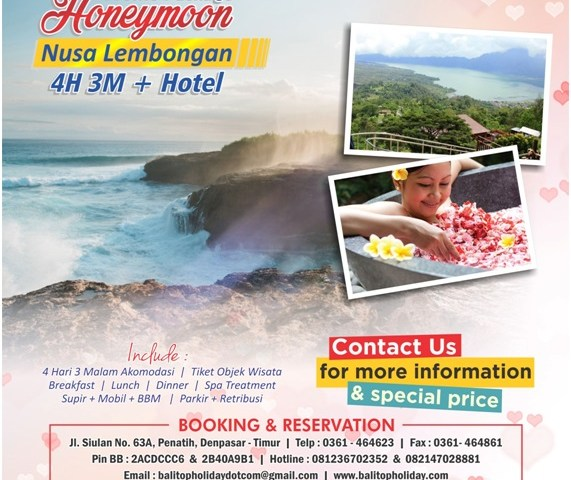 paket honeymoon nusa lembongan