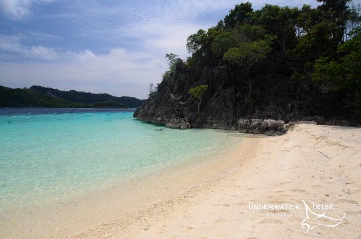 Rocks and Beach, Raja Ampat