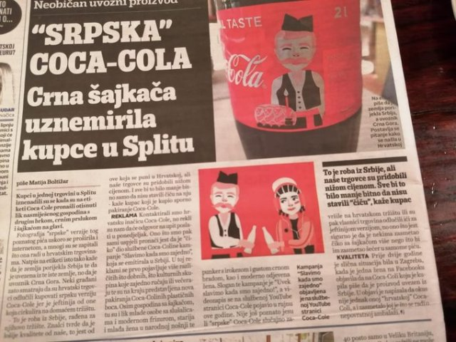 ŠOK! Hrvati pili SRPSKU Coca-colu!