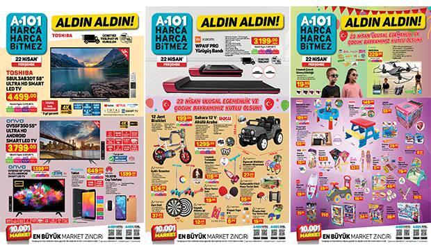 A101 22 Nisan Aktüel Kataloğu! Züccaciye, elektronik, mobilya ve çocuk ürünleri…