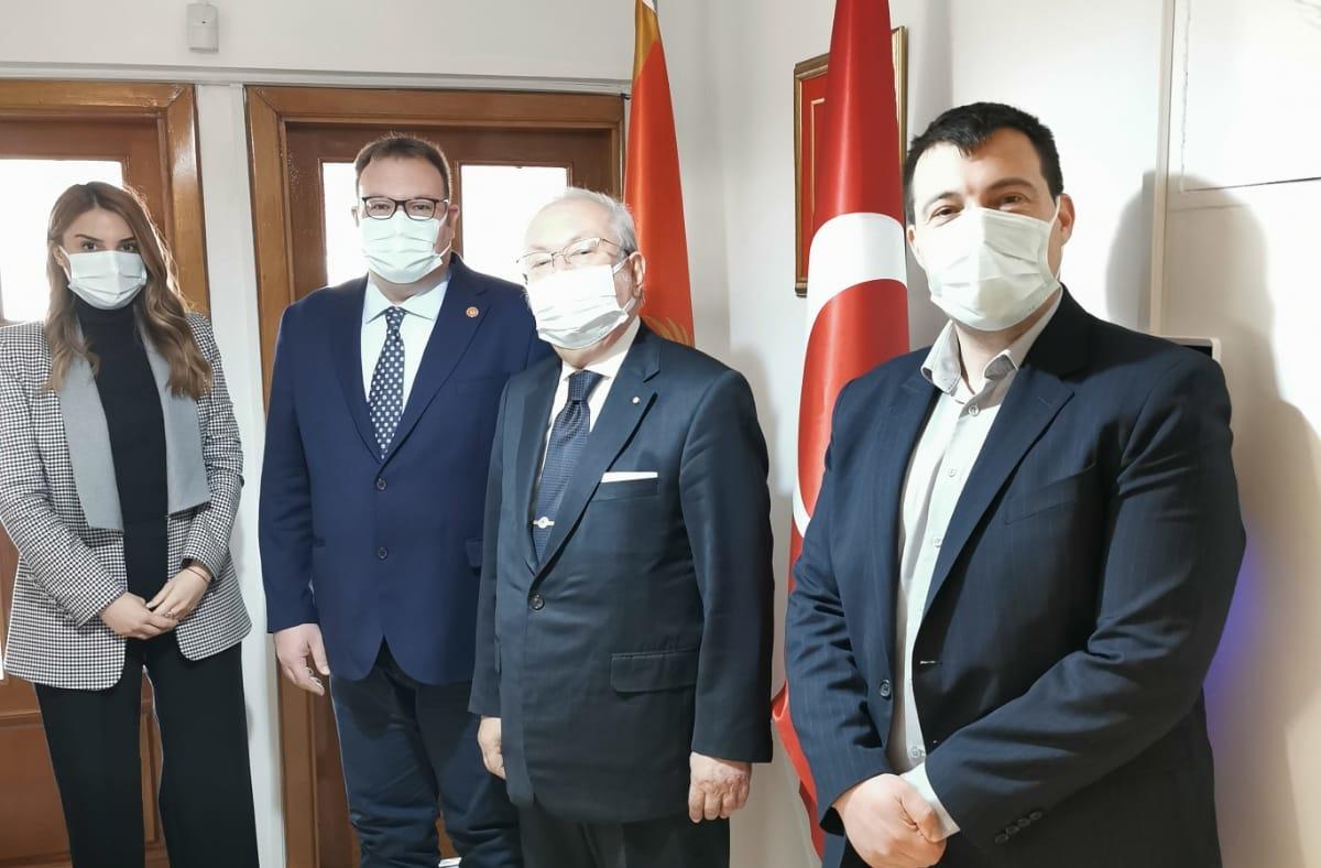 Montenegro Balıkesir Fahri Konsolosu Dr. Akkan Suver Ankara'da İstişarelerde bulundu