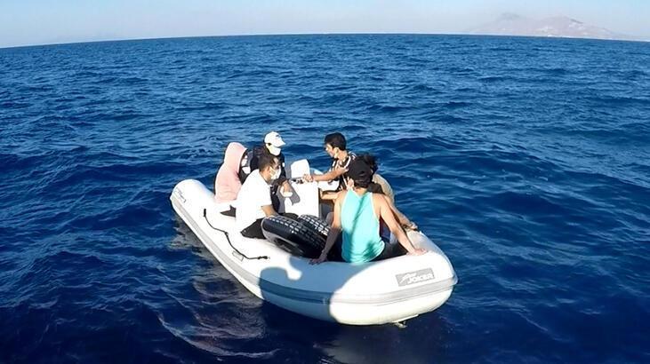 Bodrum açıklarında 7 düzensiz göçmen kurtarıldı