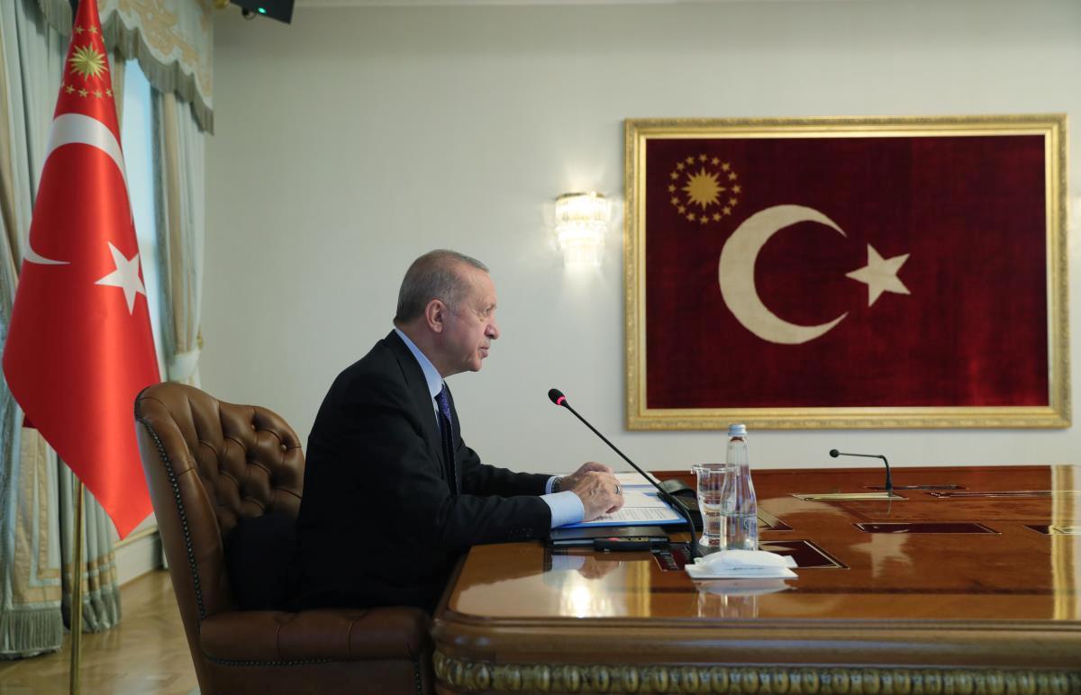 Cumhurbaşkanı Erdoğan, G20 Olağanüstü Liderler Zirvesi'ne video konferansla katıldı Açıklaması