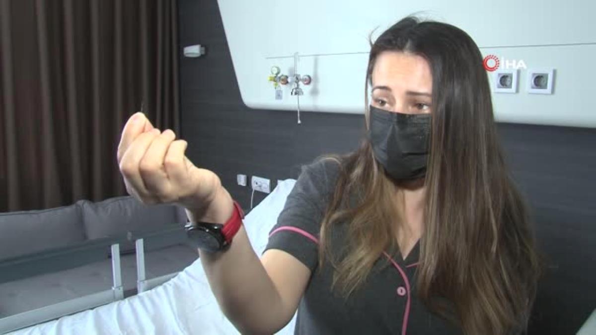 Kokoreç yerken diline iğne batan kadın doktorları da şaşırttı