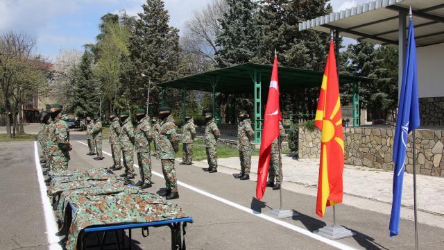 Türkiye, KuzeyMakedonyaordusuna üniforma bağışında bulundu