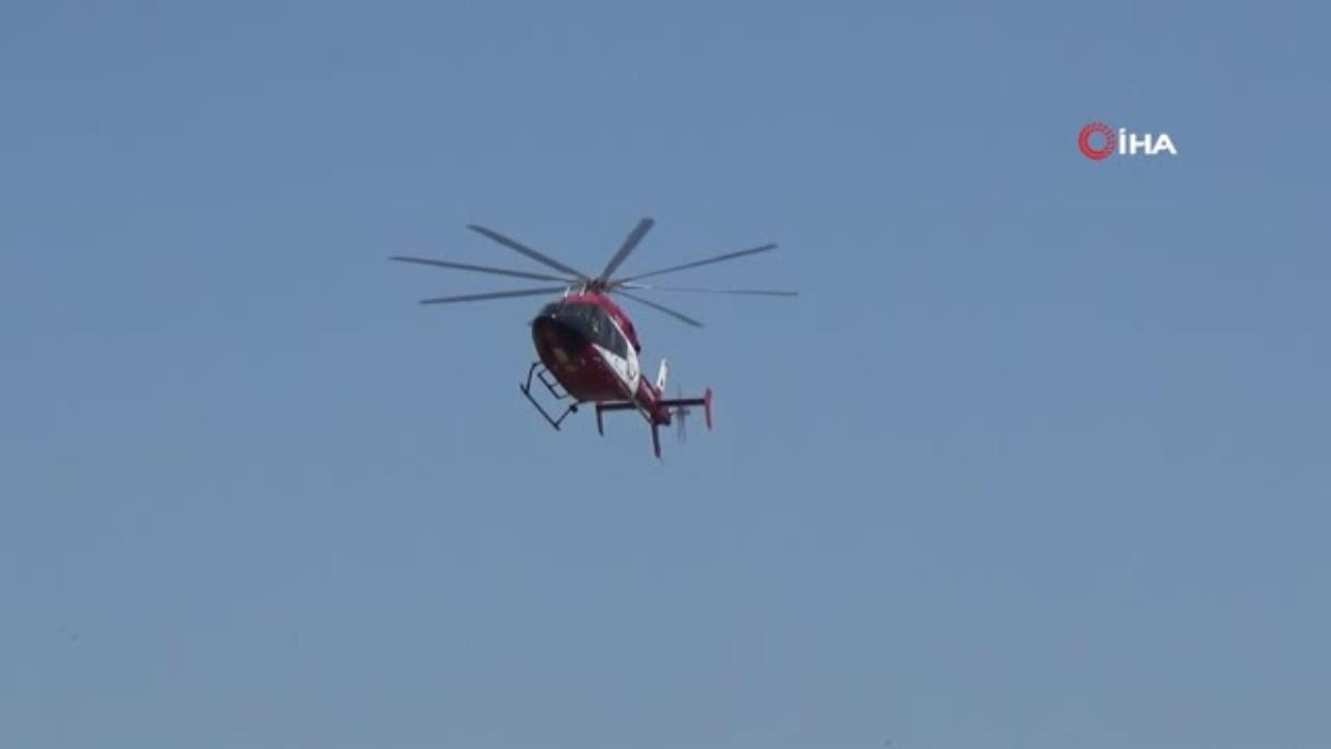 Son dakika haber! Entübe hasta, ambulans helikopter ile Ankara'ya sevk edildi