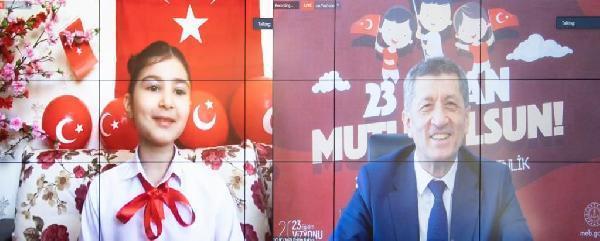 Son dakika: TBMM Başkanı Şentop ve Bakan Selçuk, 81 ilden çocuklarla görüştü