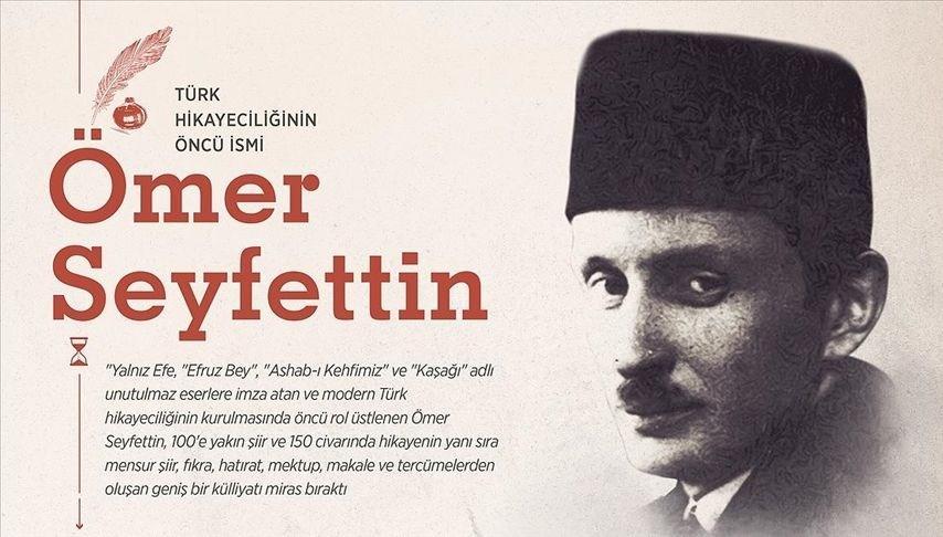 Türk hikayeciliğinin öncü ismi Ömer Seyfettin anılıyor