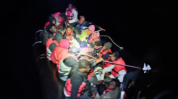 Türk kara sularına geri itilen 71 düzensiz göçmen kurtarıldı