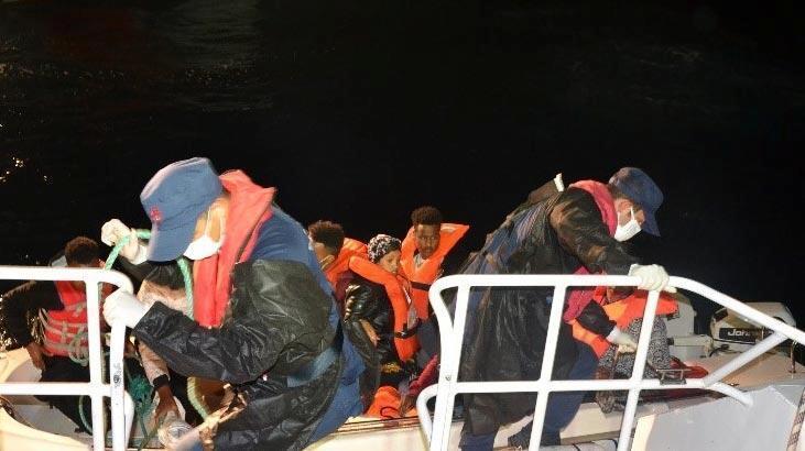 Türk kara sularına itilen 8 sığınmacı kurtarıldı