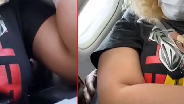 Uçakta taciz rezaleti! Eli, yol boyunca genç kızın vücudunda gezdi