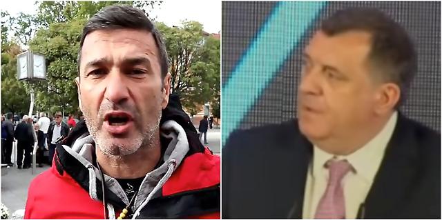 Davidov otac odgovorio Dodiku: Neću se skloniti sa trga ni 8. oktobra (VIDEO)