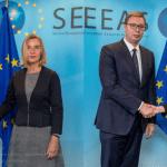 Mogerini nakon sastanka sa Vučićem i Tačijem: Teškoća ima, uskoro sledeći sastanak