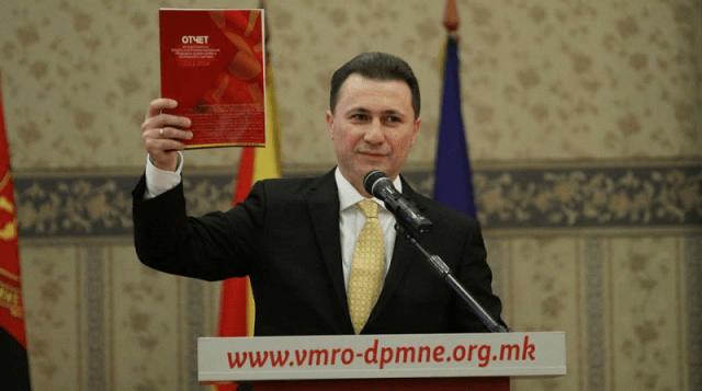 Raspisana poternica za Nikolom Gruevskim