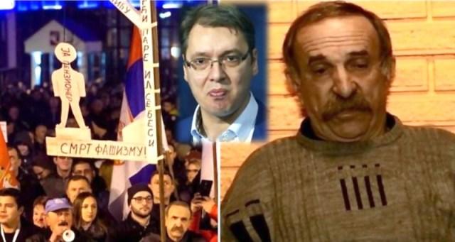 Penzioner sa protesta u KG: Hteo sam da pokažem da nisu svi penzioneri bez mozga. Zlikovac mi je oteo 4.000 evra