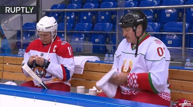 Putin i Lukašenko na hokeju i skijanju (VIDEO)