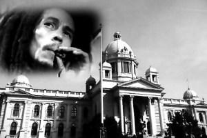 Koncert za legalizaciju kanabisa ispred Skupštine Srbije 4. maja