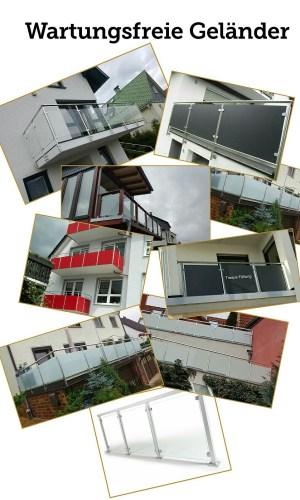 Wartungsfreie Geländer,Balkonsanierung