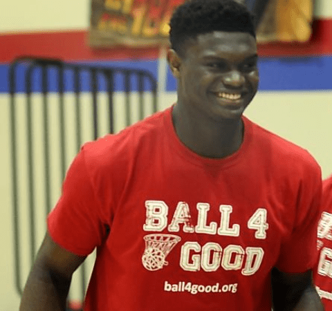 Zion Williamson Supports Boys and Girls Club