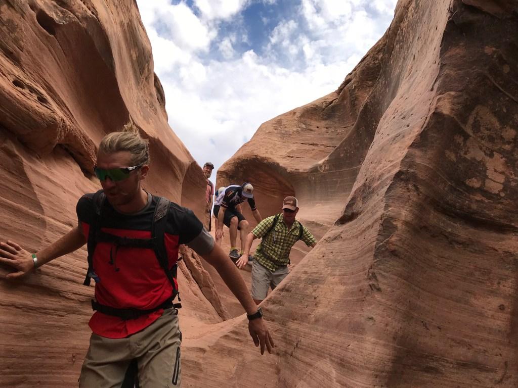 white rim trail slot canyon