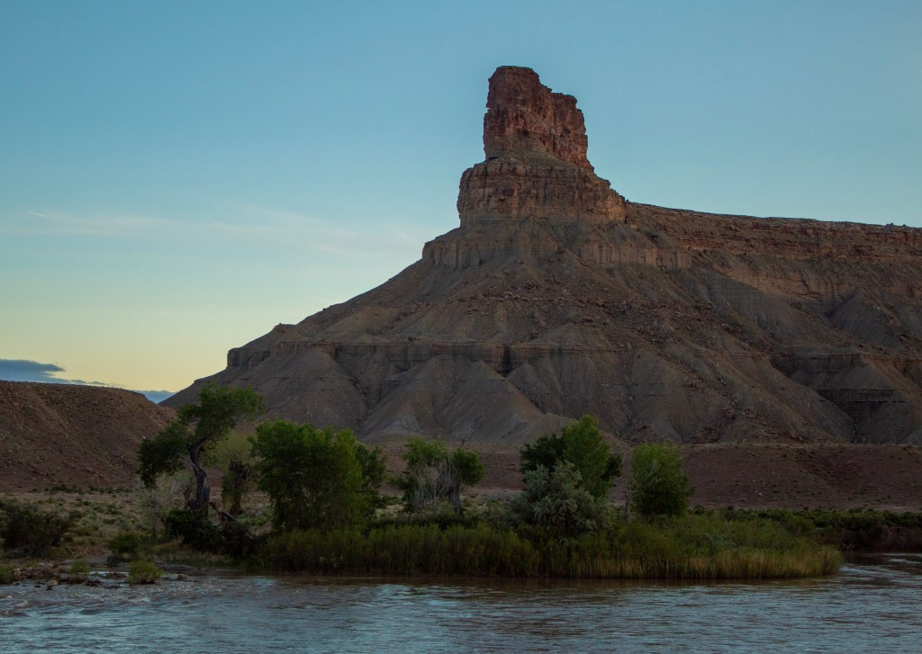 Gunnison Butte and the Green River near Green River, Utah