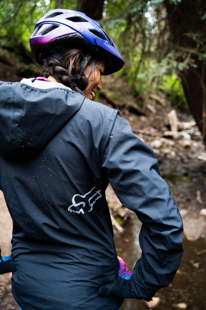 fox women's ranger rain jacket back profile
