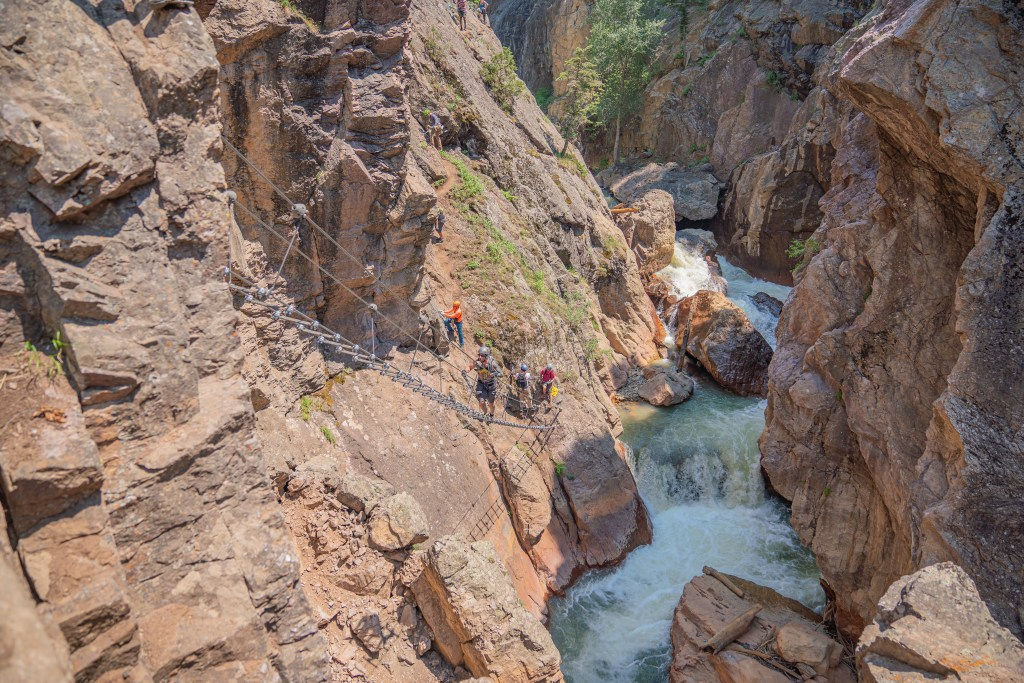 ouray via ferrata skyladder uncompahgre river gorge box canyon