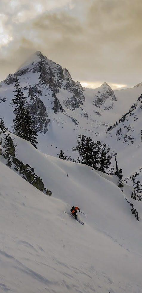 Johnny-Townsend-skis-Turkey-Chute-at-sunset-in-Grand-Teton-National-Park-Shoshone-home