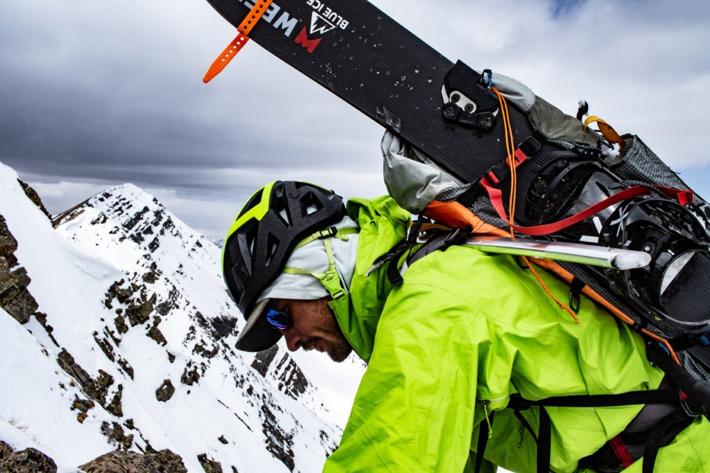 mountaineering splitboarding 14er