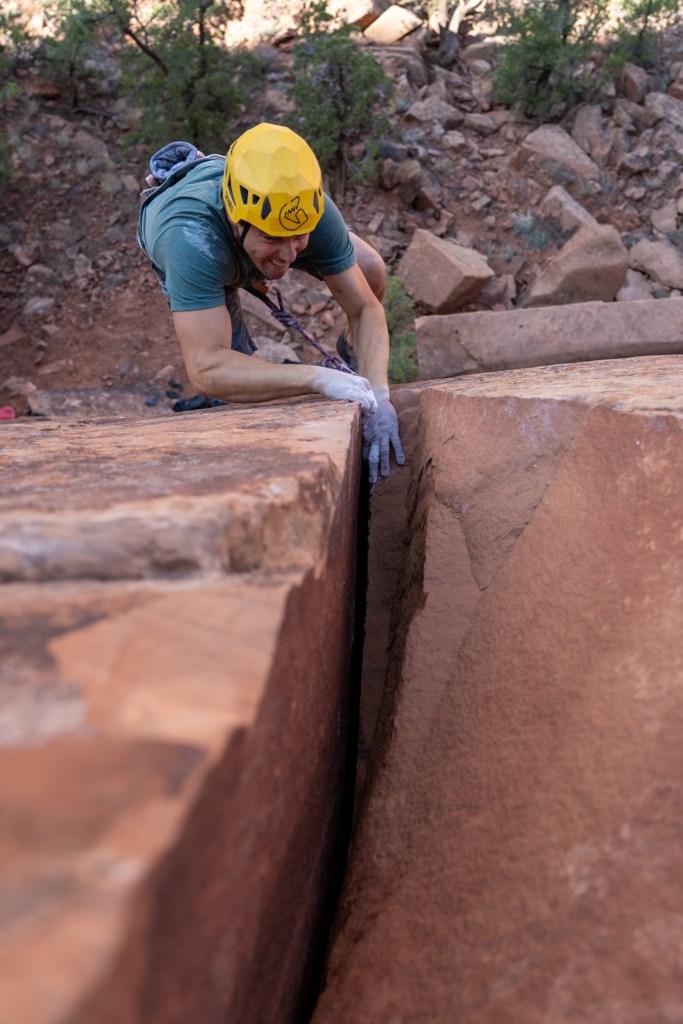 luke mehall rock climbing photo by dane molinaro