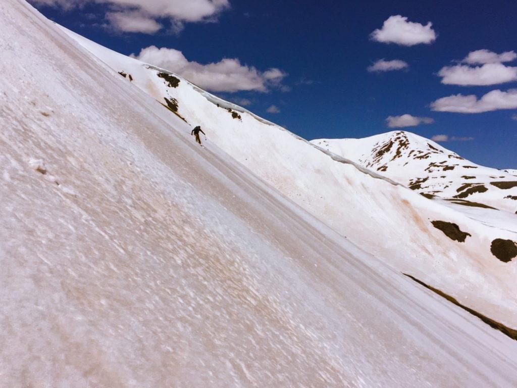 dust on snow skier silverton colorado