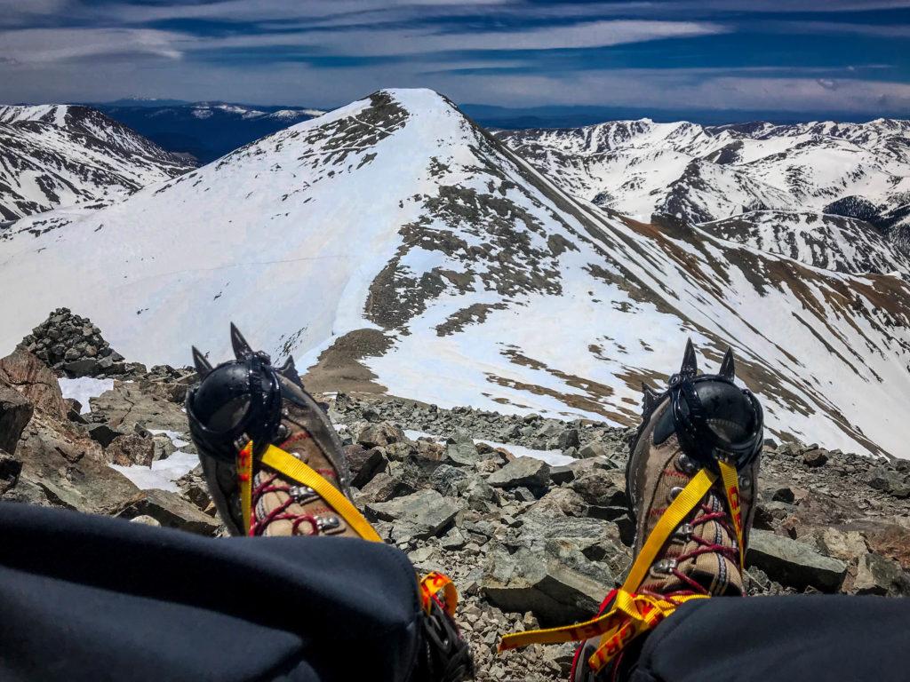 mountaineering winter sport covid travel grays peak torreys peak 14er