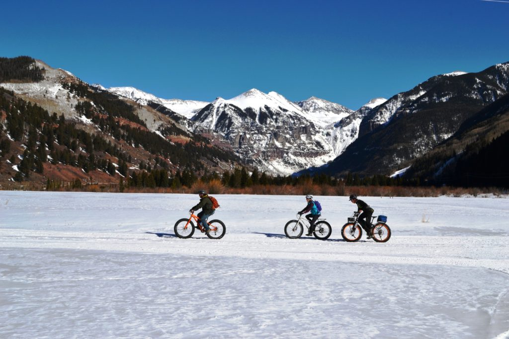 Fat bikers in Telluride, Colorado.