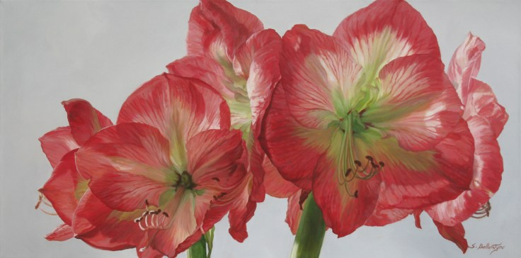 "Amaryllis 20""X 40"" Acrylic on Canvas - SOLD"