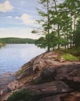 "Campsite #4 Acrylic on Canvas 22"" x 28"""