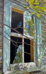 """Reflections 20"""" X 26"""" Acrylic on WC Paper SOLD"""