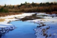 "Winter's Palette 24"" x 36"" Acrylic on Canvas"