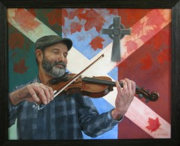 """Celtic Roots 24""""X 30"""" Acrylic on Canvas Part of the """"Oh Canada! Our True North"""" Special Exhibition at the 2017 Buckhorn Fine Art Festival."""