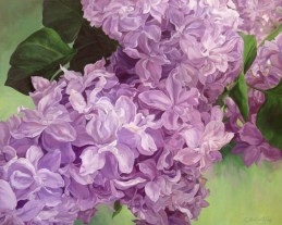 """""""Fragrance of Spring"""" 30""""X 24"""" Acrylic on Canvas, price on request."""