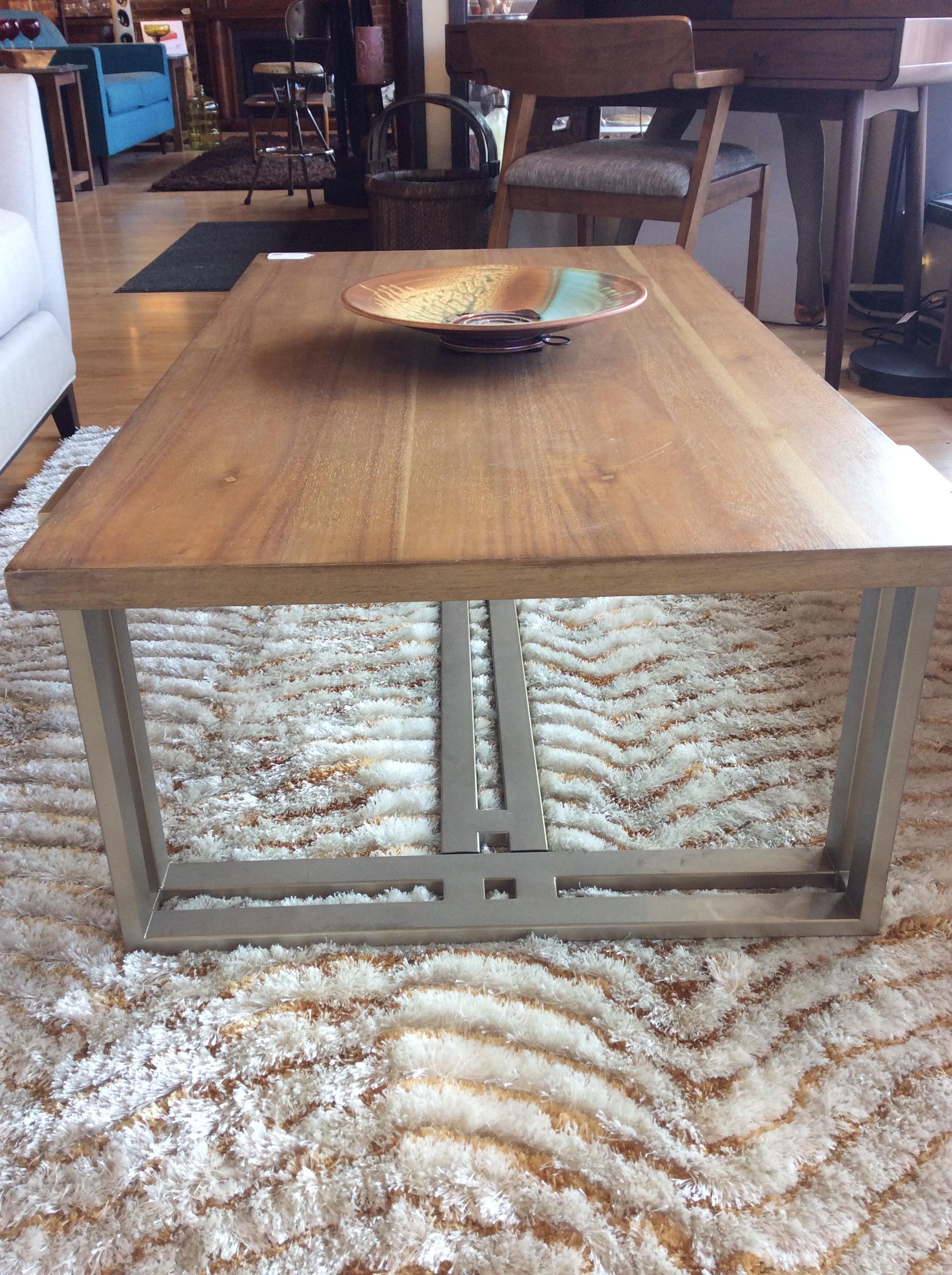 Industrial Coffee Table $250 – Ballard Consignment