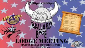 Ballard Elks Lodge Meeting