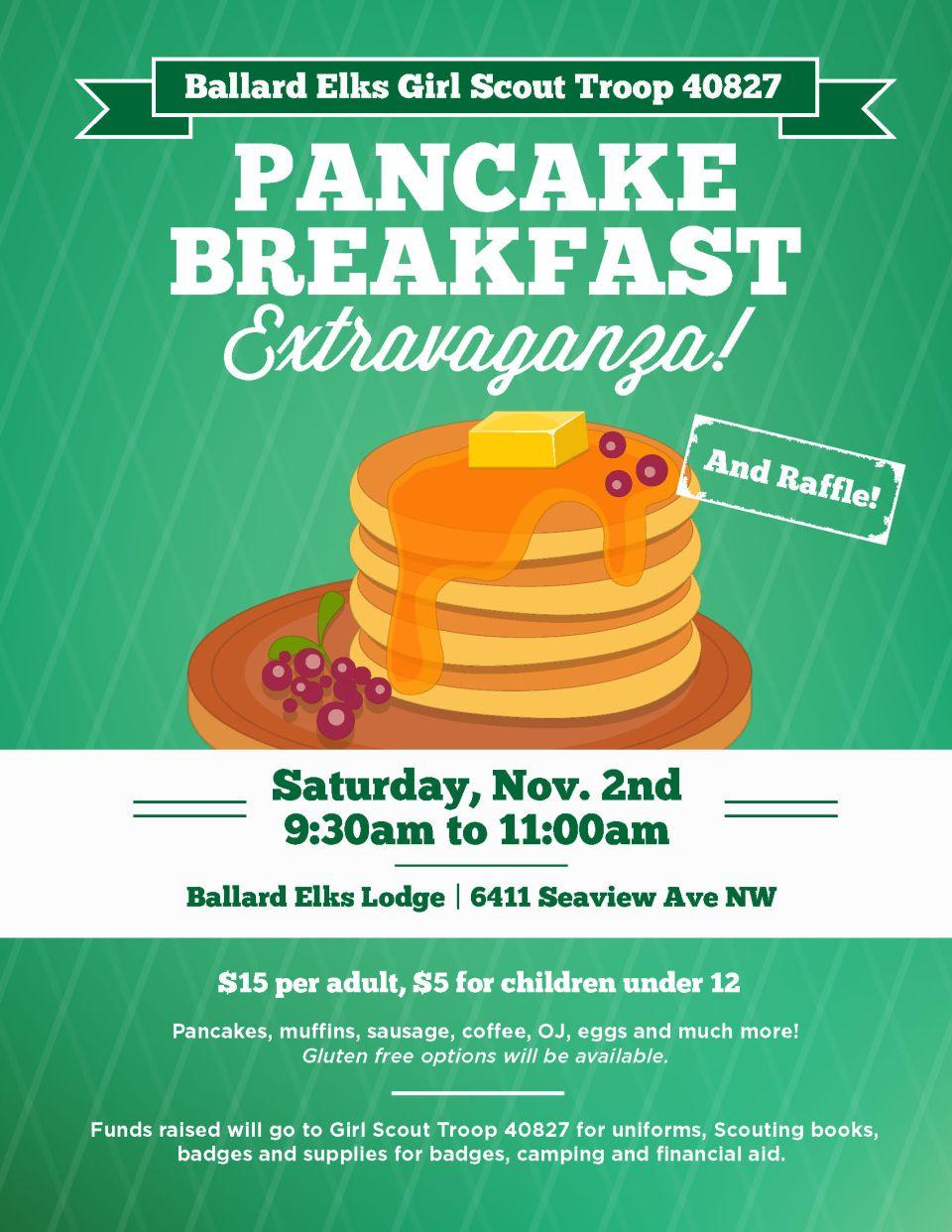 Pancake Fundraiser! @ Ballard Elks Lodge