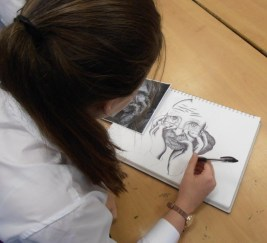 Ballard School New Milton Art GCSE biro