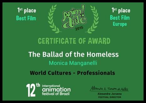 Certificate_Anim!Arte_The Ballad of the Homelless