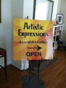 Artistic Expressions Display at monthly potluck in Fuquay Varina