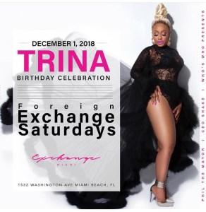 MIA- Trina 12/1 @ Exchange Miami |  |  |
