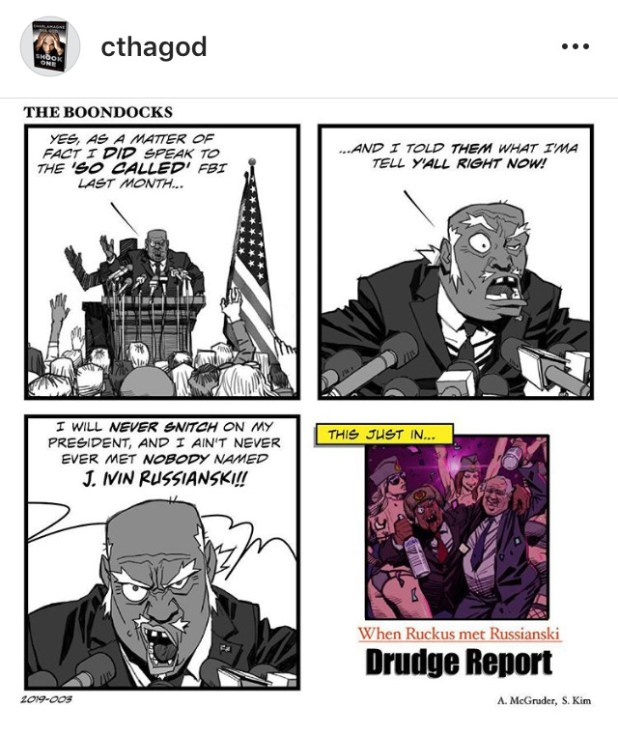 Aaron Mcgruder Creates New Boondocks Comic Strips For Black