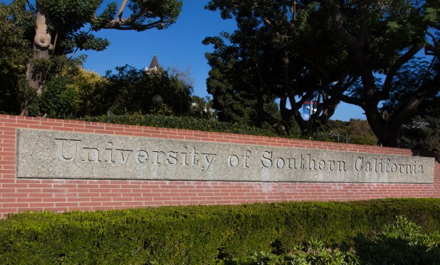 University of Southern California Entrance SignUniversity of Southern California Entrance Sign